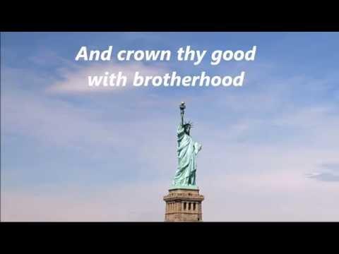 AMERICA THE BEAUTIFUL Words Lyrics Best Patriotic Veterans Memorial Day July 4 sing-along songs