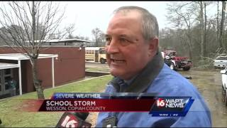 Storms damage Wesson school