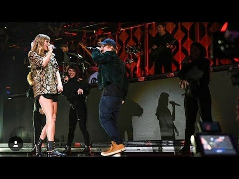 Taylor Swift and Ed Sheeran End Game Performance On iheart Jingle Ball