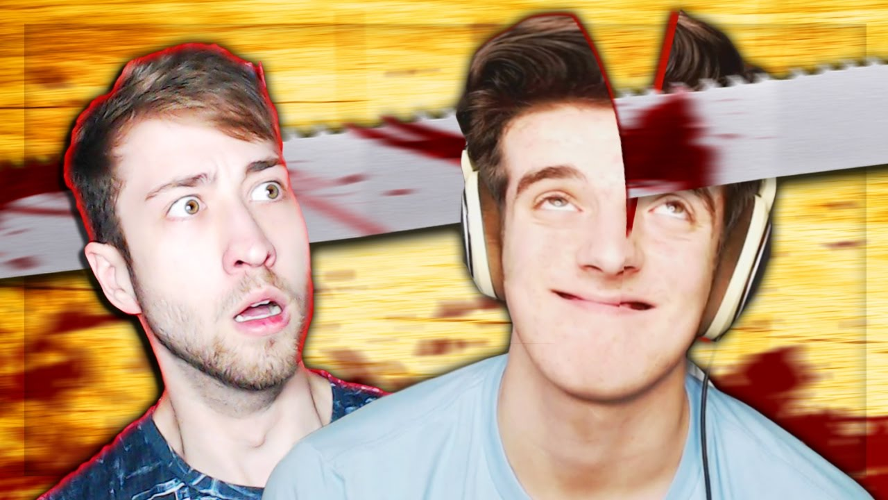 DENIS, ALEX & CORL GET THEIR FACES CUT IN HALF!? - YouTube