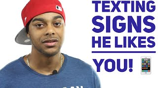 How to tell if a guy likes you through his text messages | 8 signs a guy likes you!