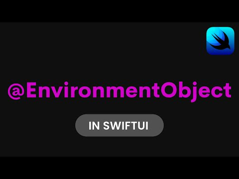 How to use EnvironmentObject in SwiftUI (SwiftUI Tutorial, SwiftUI Data Flow) thumbnail