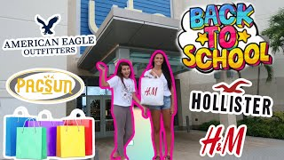 BACK TO SCHOOL MALL SHOPPING 2020! JUNIOR YEAR & MIDDLE SCHOOL! EMMA AND ELLIE