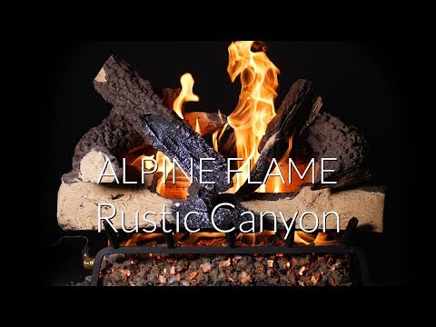 Alpine Flame Rustic Canyon Natural Gas Log Set