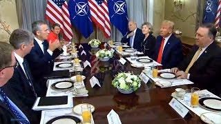 NATO summit. President Trump participates in a bilateral breakfast with Secretary General of NATO Je