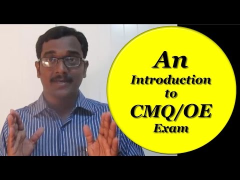 An Introduction to CMQ OE Exam - YouTube