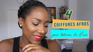 4 Coiffures Afros Pour Une Hôtesse De Lair (tuto)