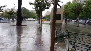 preview picture of video 'Rain in Tirana'