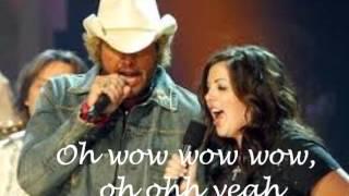 Mockingbird Toby Keith and Krystal Keith with lyrics.wmv