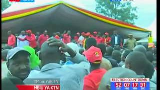 Rais Uhuru Kenyatta apiga kampeni za chama cha Jubilee katika maeneo ya Bomet