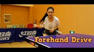 Forehand Drive Technique in Table Tennis
