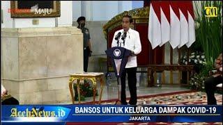 VIDEO - Presiden Jokowi Tegaskan Bansos Disalur Secara Utuh Tanpa Potongan