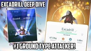Drilbur  - (Pokémon) - Excadrill Deep Dive In Pokemon Go! New Best Ground Type Attacker!