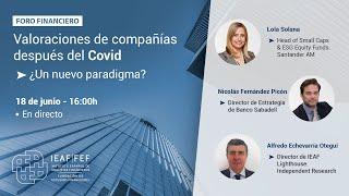 I Foro Financiero IEAF-FEF Valoración de empresas tras el COVID19