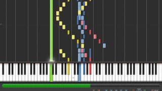 """The Beatles """"Within You Without You"""" on Synthesia [HD]"""