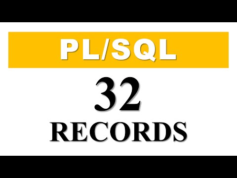 PL/SQL tutorial 32: Introduction To PL/SQL Record Datatype In Oracle Database By Manish Sharma