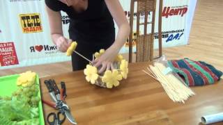 Мастер-класс: как сделать ананасовый букет в подарок
