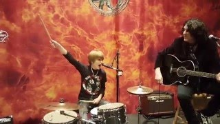 12 year old drummer Logan Robot Gladden plays w/ KISS Nothin To Lose