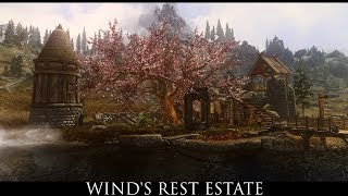Skyrim SE Mods: Wind's Rest Estate - A Whiterun Tundra Home