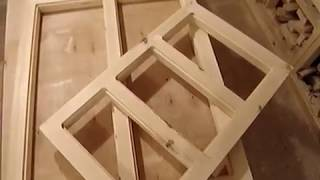 Деревянная оконная рама для дачи