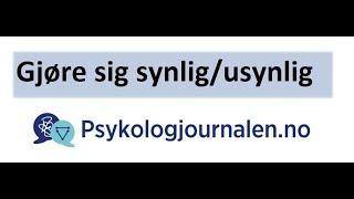 Psykologjournalen.no veiledning gjøre sin profil synlig/usynlig