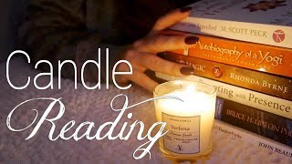 😌 Reading by Candlelight | ASMR | Books, Pages, Soft Speaking 😌