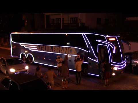 Ônibus Iluminado - Viação Águia Branca Passando Por Paramirim