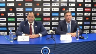 Пресс-конференция после матча «Адмирал»–«Динамо» Рига