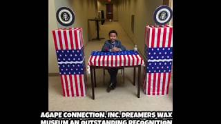 African American Heroes On Display By Children, Youth At The Dreamers Wax Museum  In Aurora, IL
