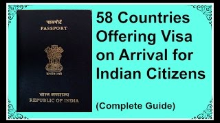58 Countries offering visa on arrival for Indian citizens- Complete Guide (Verified)