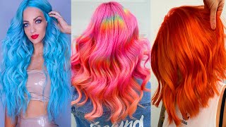 Beautiful Long Hair Color Transformation Tutorials Compilations! Rainbow Colorful Hair