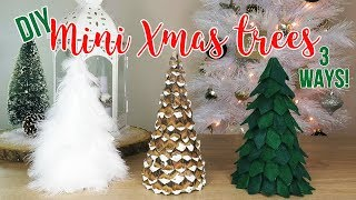 DIY Christmas Tree Decor | How To Make 3 Mini Tabletop Trees (Affordable!)