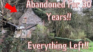 We Explore A Cottage Abandoned For Almost 30 Years With Everything Left Behind!!