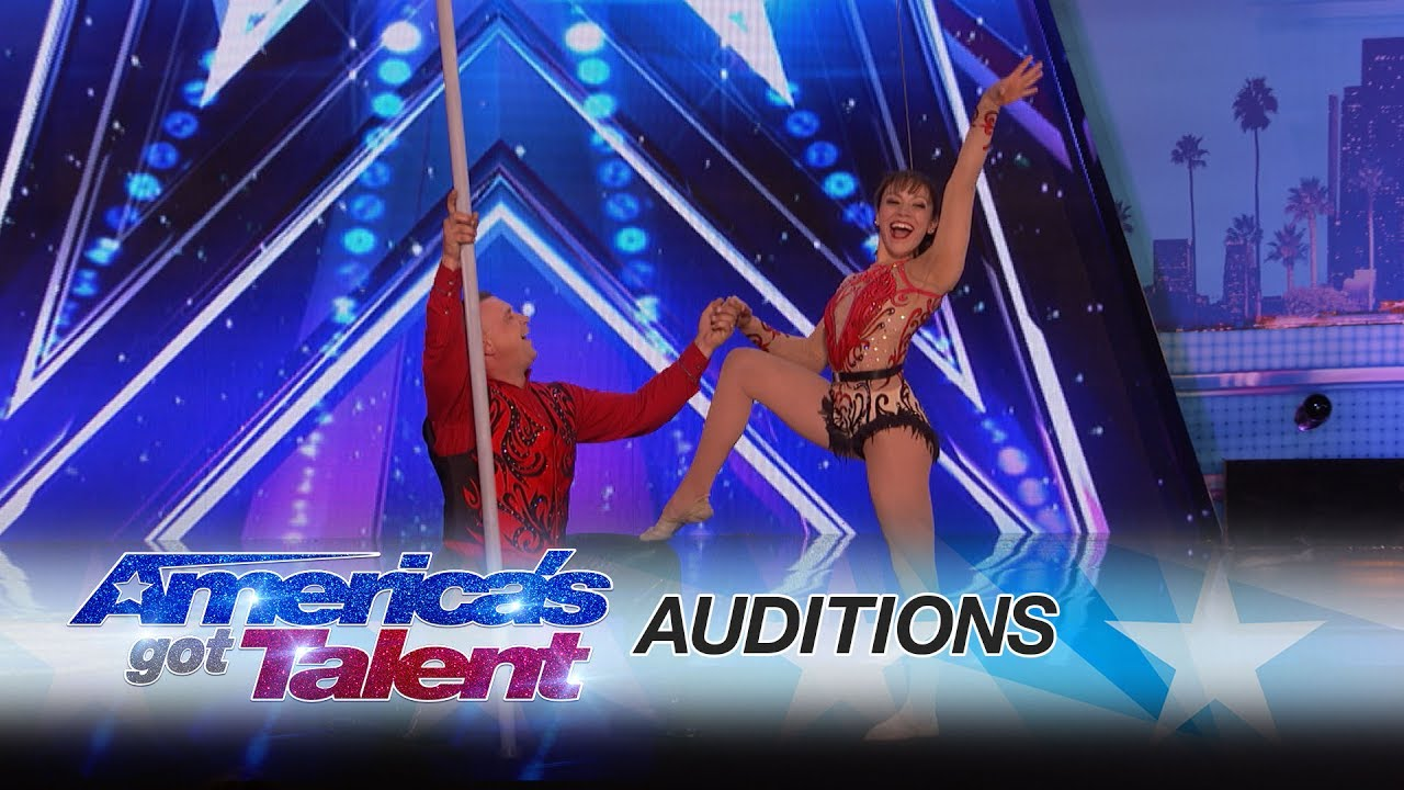 Elena and Sasha: Balancing Duo Takes Their Audition To Towering Heights - America's Got Talent 2017 thumbnail