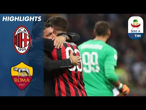AC Milan 2-1 Roma | Cutrone Wins it Late for Milan | Serie A