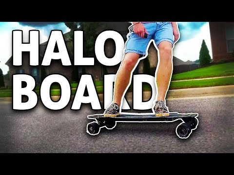 21+ MPH Top Electric Skateboard: HALO BOARD!! REVIEW
