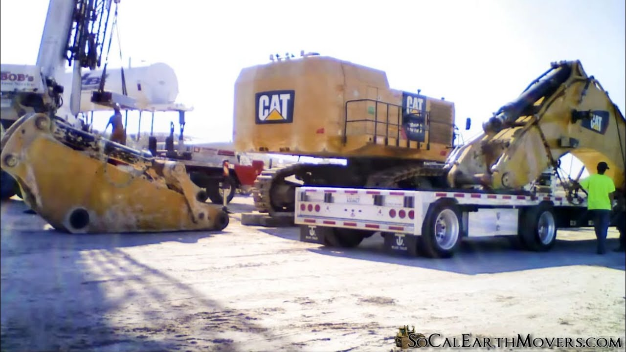 Time-lapse video of a CAT 6015B Excavator and brand new 777G Haul Truck being assembled