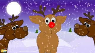 Rudolph The Red Nosed Reindeer   Christmas Songs for Kids   Reindeer Song   Christmas carols I kids