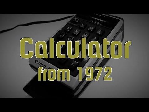 Taschenrechner von 1972 (Canon Palmtronic LE-10)