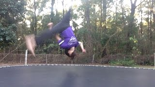 Tutorial: How To Do An Ariel On The Trampoline With Lillie