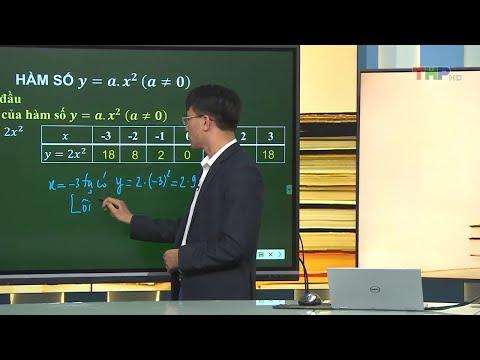 MÔN TOÁN LỚP 9- Hàm số y = ax2 (Theo lịch của Bộ GD&ĐT phát sóng từ 14h30 ngày 22/4/2020, trên VTV7)