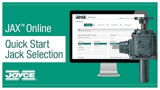 JAX® Online Quick Start – Jack Selection