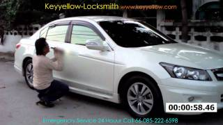 Locksmith Unlock car door Honda Accord / Keyyellow