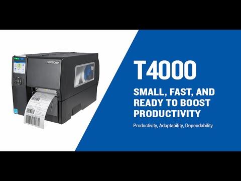 Printronix T4000 Industrial Thermal Label Printer video thumbnail