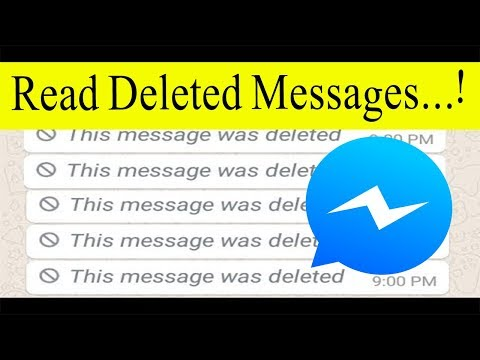 How To Recover Deleted Messages on Messenger 2019 | Read Deleted Messages