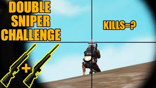 Double Sniper Challenge || Every Pubg sniper have to watch this ||  Pubg mobile