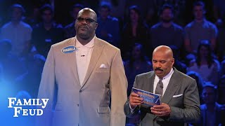 Shaq and Charles Barkley's EPIC Fast Money! | Celebrity Family Feud - Video Youtube