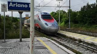 Frecciargento 8383 Firenze-Lecce senza cambi treno, in transito nella stazione di Ariano Irpino