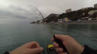 Ловли рыбы на черном море с берега