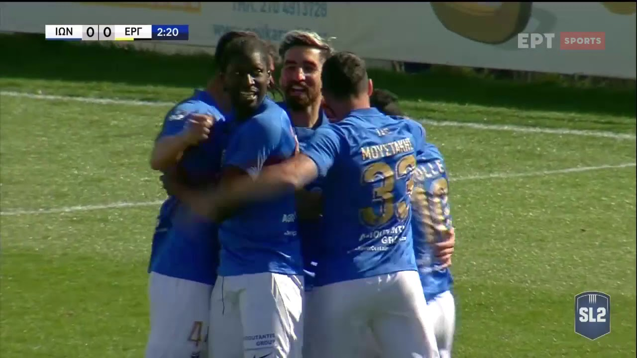 Super League 2 | Ιωνικός – Εργοτέλης | ΓΚΟΛ 1-0 | 03/03/2021 | ΕΡΤ
